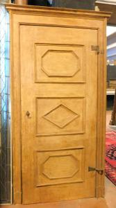 ptl499 - lacquered door with frame, cm l 115 xh 229