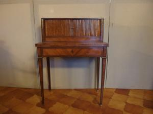 LOUIS XVI STYLE WALL WRITING DESK, END OF 800