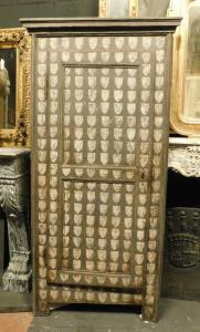 stip212 - stipo a muro laccato, XVIII secolo, cm l 80 x h 180