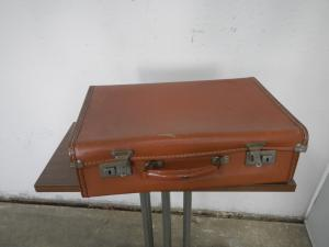 cardboard suitcase from the 60s