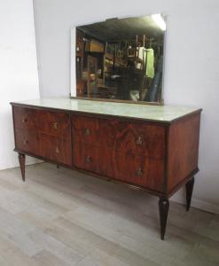 带镜子抽屉柜-复古50年代60年代现代-抽屉柜