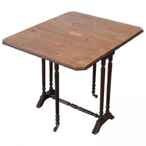 镶嵌核桃的条形古董咖啡桌Sec.XIX价格可转让