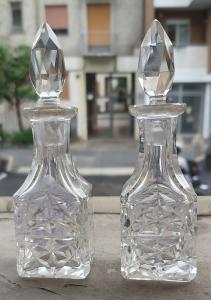 水晶瓶一对