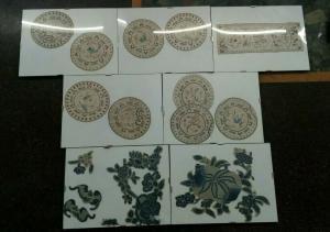 Ricami Cinesi , Lotto Antichi Ricami Cinesi , Arte Orientale
