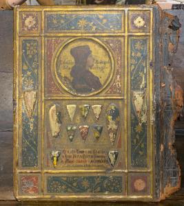 Copertina antica di libro