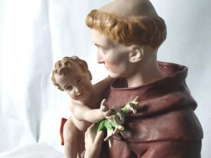 S. Antonio statua in biscuit iniziò XX secolo