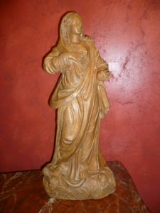 MADONNA IN TERRACOTTA SIGNED AND DATED - CORAZZA 1813