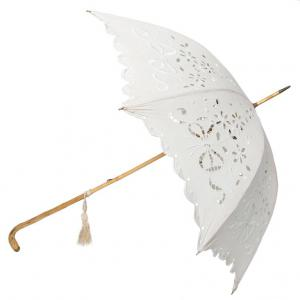 Elegante parasole francese in tessuto ricamato