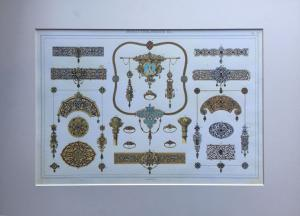 Ornaments for theatrical scenographies - XX century print from Zuliani engraving