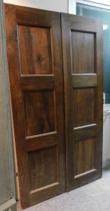 pti677 - дверь из орехового дерева, период '7 /' 800, Италия, 117 см l 117 x h 206,5 x d. 3