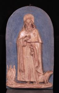 赤陶中的高浮雕:S.Antonio Abate,19世纪初