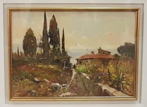 Camino con árboles - Gianfranco Curandai