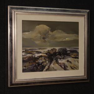 意大利绘画签署了Ferruccio Rosini海景