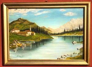 paisaje fluvial firmado
