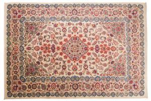 Alfombra persa KASHAN, fabricación de la era Pahlavi