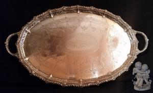 IMPORTANT TRAY IN SILVER ENGLISH 1906