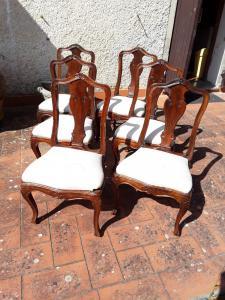 1700年代的六把威尼斯胡桃木椅子保证合法条款