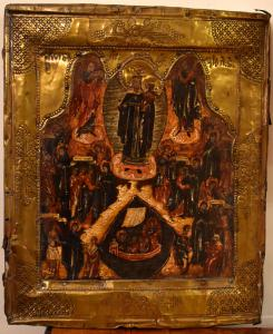 Very rare icon of the Virgin of the Afflicted, Moscow 1761 (dated and monogrammed)