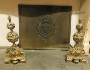al170 - par de perros de fuego de bronce, cm l 25 x prof. 55 xh 55