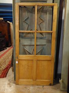 pti447 стеклянная дверь из тополя без рамы, изм. 92 х 188 х 3 см
