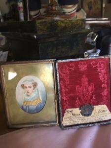 Miniatura de la Reina de Escocia Maria