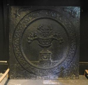 p11 - чугунная тарелка с цветочным горшком, размер см 64 xh 67