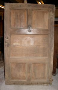 ptci487 door in walnut, eighteenth century, Piedmont, a door, mis. cm 128 x 215 h