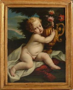 Ludovico Stern (1709-77). Putto con natura morta.