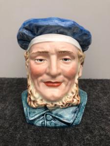 陶器鼻烟壶描绘与basco.Francia的男性头