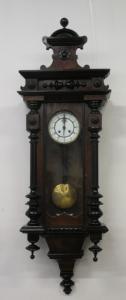 Настенные маятниковые часы из орехового дерева - конец 19 века - морбье - умбертино