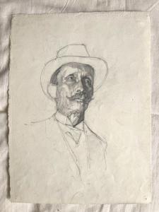 Bleistiftzeichnung auf Papier. (Aus dem Archiv von Arturo Pietra)