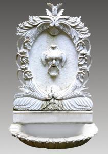 Carrara marble fountain - 19th century - Italy