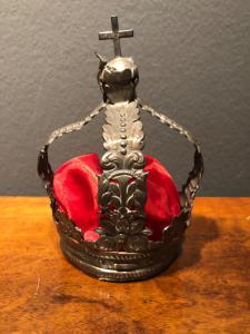 Corona in argento da statua.Senza punzone.Genova.