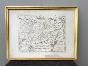 Print of the Duchy of Parma and Piacenza.Author: FJ Reilly - Die Staaten des Herzogs von Parma - 1791.