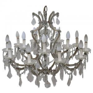 "Gran candelabro de cristal antiguo ""Maria Theresa"" del siglo XIX PRECIO NEGOCIABLE"