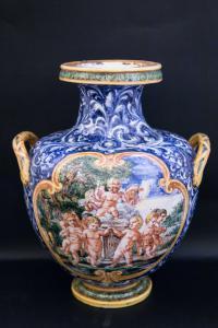 Vaso decorato Manifattura Minghetti