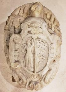 Noble efigie de mármol del siglo XVI-XVII 58x45x22