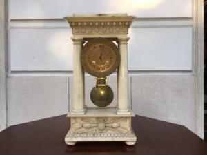 Orologio - in marmo - metà 800 - Impero - francese - funzionante