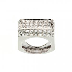 Anello a ponte con diamanti