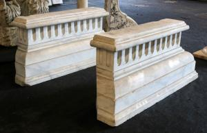 Pair of antique marble bases. Period 1800.