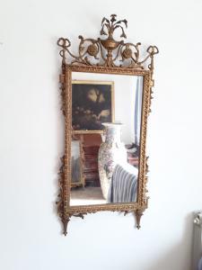 Espelho dourado, período 1800 h 135x65, Toscana, garantia legal