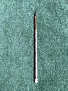 Penna in argento con decori a girali fogliate.Dettaglio in avorio.