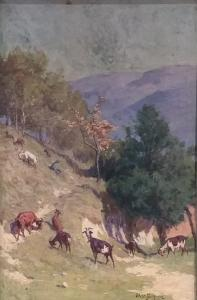 Paisagem com cabras