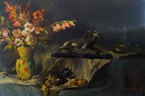Natura Morta Olio su tavola ambito francese, inizi XX secolo