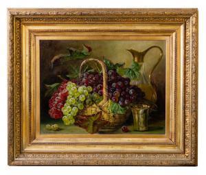 "Gemälde aus dem 19. Jahrhundert ""Trauben im Korb"" - O / 1699"