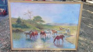 Rahmen mit Pferden