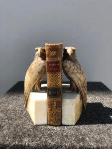 Pair of alabaster art-d'eco 'bookends.