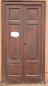PAIR OF PIEDMONTESE DOORS IN SOLID WALNUT WITH UPRIGHT '800 90X200 CM N 5/6