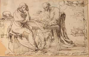 Dibujo de Veneto fechado en 1826