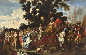 Триумф Давида - Винсент Мало (Камбрай 1606/1607 - Рим 1650 г.)